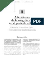 Alteraciones de la coagulacio¦ün en el paciente cri¦ütico