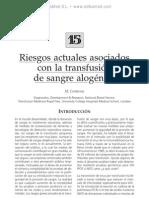 Riesgos actuales asociados con la transfusio¦ün de sangre aloge¦ünica