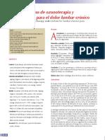 Uso Ozonoterapia Colchicina Para El Dolo Lumbar Cronico