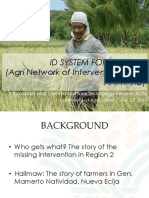 Agri Network of Interventions Card (ANI-Kard)