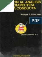 Liberman. Iniciación al análisis y terapéutica de la conducta