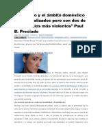 Entrevista a Paul Preciado. Sexualidad, Escolaridad