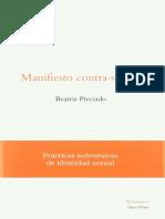 Beatriz Preciado - Manifiesto contra-sexual. Practicas subversivas de identidad sexual.pdf