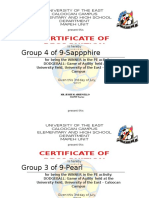 Dodgeball Certificate