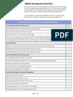 EdX MOOC Development Checklist-A11y