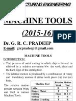 Microsoft PowerPoint - MACHINE TOOLS - 2015-16