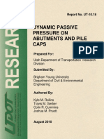 DYNAMIC PASSIVE PRESSURE ON ABUTMENTS AND PILE CAPS