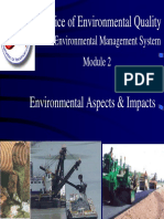 Enviroinmental Aspects and Impacts
