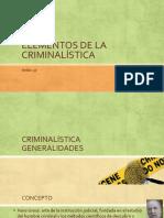 Elementos de La Criminalística