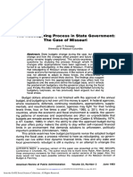 0-Forrester 1993 the Rebudgeting Process in State Government-The Case of Missouri