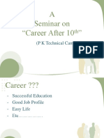 A Seminar on After 10 Th Career (1)