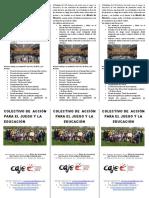 folleto CAJE