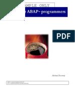 Java for ABAP Programmers Sample