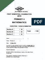 P4 Math SA1 2015 Nanyang Exam Papers