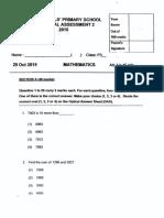 P3 Math SA2 2015 Raffles Girls Exam Papers