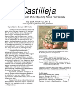 May 2004 Castilleja Newsletter, Wyoming Native Plant Society