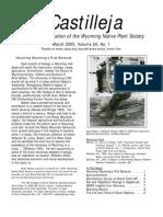 Mar 2005 Castilleja Newsletter, Wyoming Native Plant Society