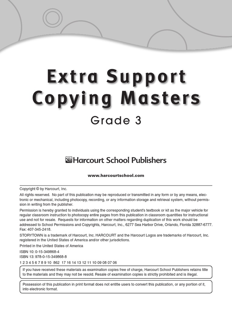 Storytown extra support copying masters grade 3 patchwork vocabulary fandeluxe Image collections