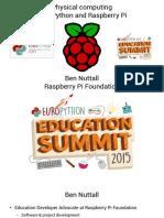 Physical Computing With Python and Raspberry Pi