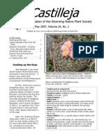 May 2007 Castilleja Newsletter, Wyoming Native Plant Society