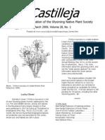 Mar 2009 Castilleja Newsletter, Wyoming Native Plant Society