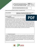 6.Actividad No 6 Formato Proyecto de Investigación en El Aula Calvario