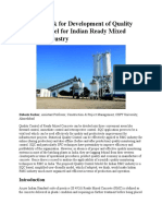 A Framework for Development of Quality Control Model for Indian Ready Mixed Concrete Industry