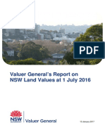 Valuer Generals Report on NSW Land Values at 1 July 2016