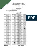 API 510 Answer Sheet Closed Book