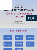 Criminal Law Revision Lecture