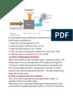 Boiler Study Notes