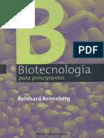 Biotecnología Para Principiantes Reinhard Renneberg