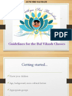 Guidelines for Bal Vikash Classes - by Dhruva Pradhan