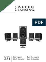altec lansing 251 user manual