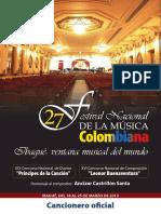 Cancionero2013 Musica Colombiana