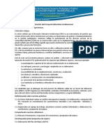 Evaluación Del Proyecto Educativo Institucional