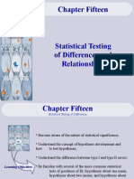 Statistical Testing of Differences and Relationships