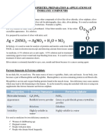 Occurence, Properties, Preparation, And Applications of Inorganic Compounds