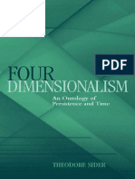 Four-Dimensionalism - An Ontology of Persistence and Time (Theodore Sider; 2002)