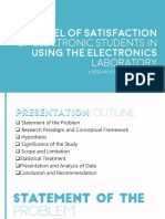 The level of Satisfaction of Electronic Students in Using the Electronics Laboratory