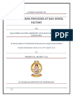 Manufacturing Process at Rail Wheel Factory