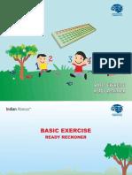 Basic Exercise Ready Reckner - Indian Abacus