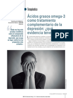 Ácidos Grasos Omega-3 Como Tratamieto Complementario de La Depresión
