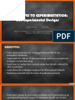 Alternatives to Experimentation