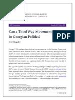 Can a Third Way Movement Emerge in Georgian Politics?