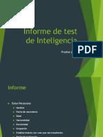 Informe de Test de Inteligencia Psicometrica