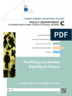 The Policy on Gender Equality in France