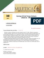 Domingo XVII Tiempo Ordinario (a)