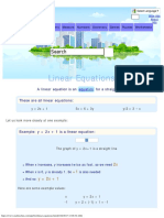 Linear Equations P1