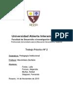 Trabajo Practico 2 - Pedagogía Institucional